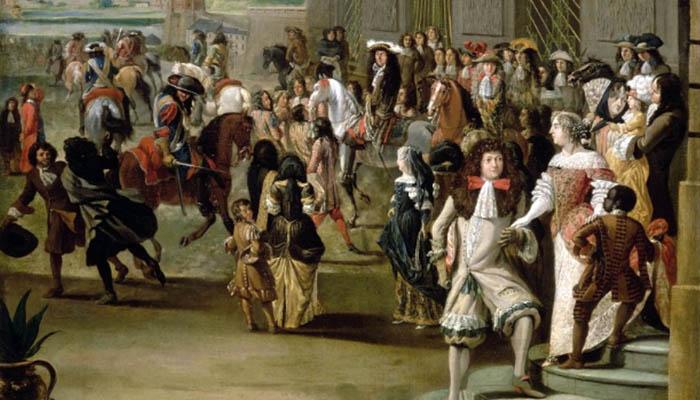 La corte del rey Luis XIV de Francia, el origen del absolutismo