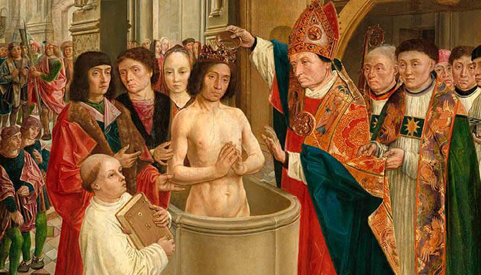 Pintura de Clodoveo I del maestro de San Gil