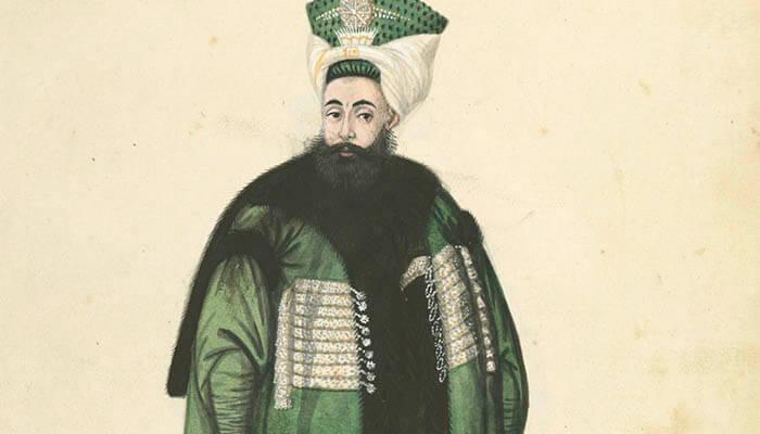Grabado del sultán Mehmed ll