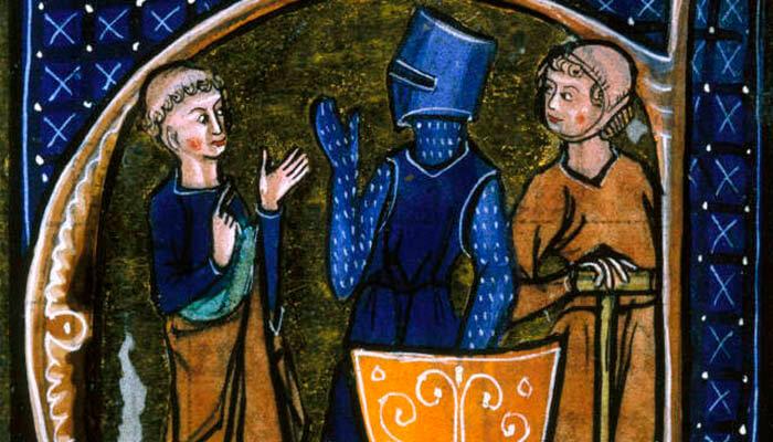 Clérigo, caballero y campesina