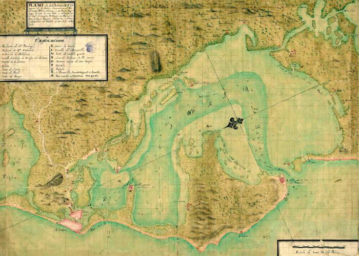 Carta náutica de Cartagena de las Indias