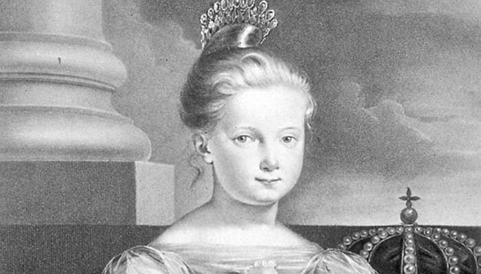 Retrato de Isabel II de España cuando era una niña