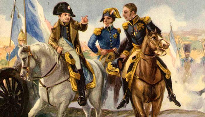 Napoleón Bonaparte en la batalla de Austerlitz