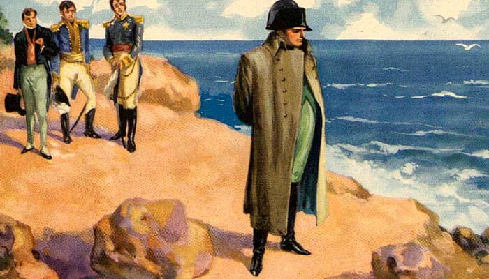 Napoleón Bonaparte en la isla de Santa Elena.