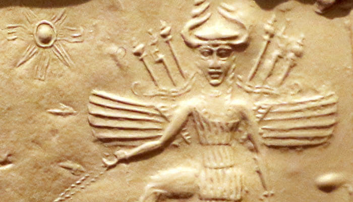 Representación de la diosa Ishtar en el Imperio acadio
