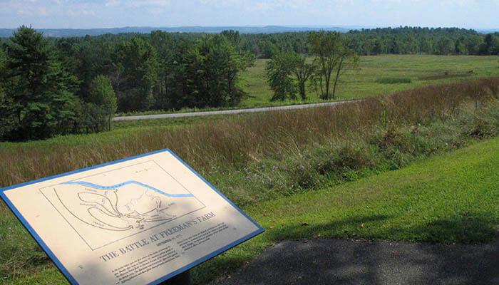 Campo donde se produjo la batalla de la granja de Freeman