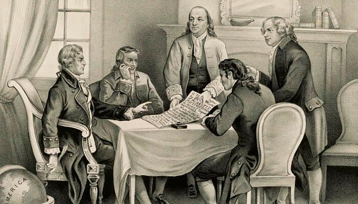 Comité de los Cinco, el mismo que redactó y presentó la Declaración de Independencia de los Estados Unidos.