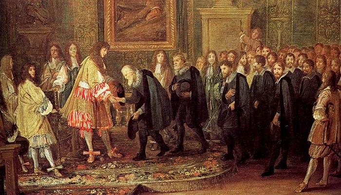 Luis XIV de Francia recibe a una delegación