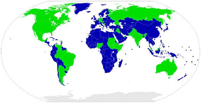 Mapa del federalismo en el mundo