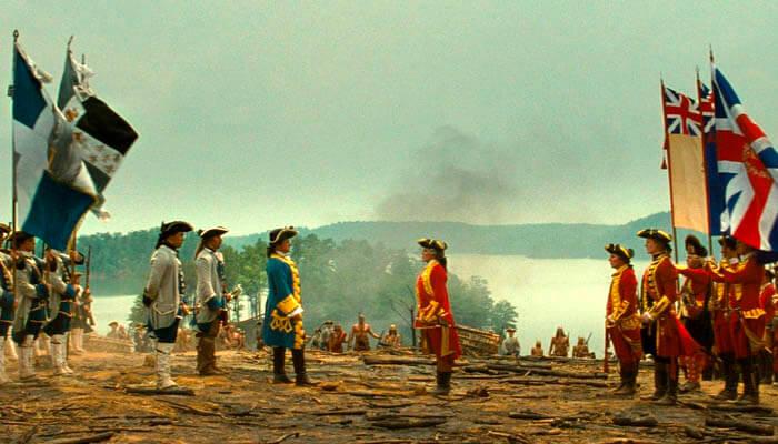 """Escena de la película """"El último mohicano"""" (1992)"""