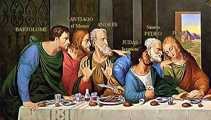 """Fragmento de """"La última cena"""", de Leonardo da Vinci."""