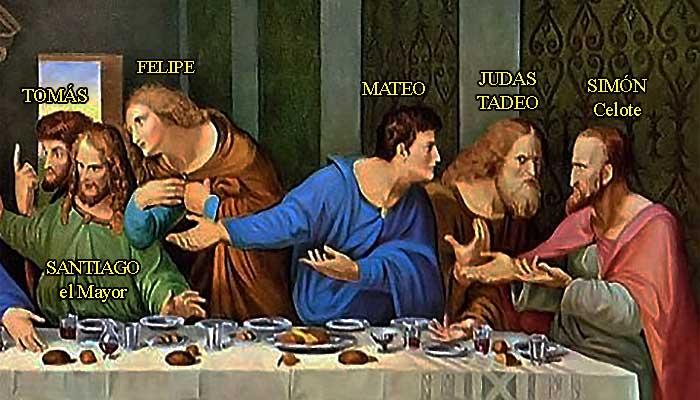 """Fragmento de """"La última cena"""", de Leonardo da Vinci"""