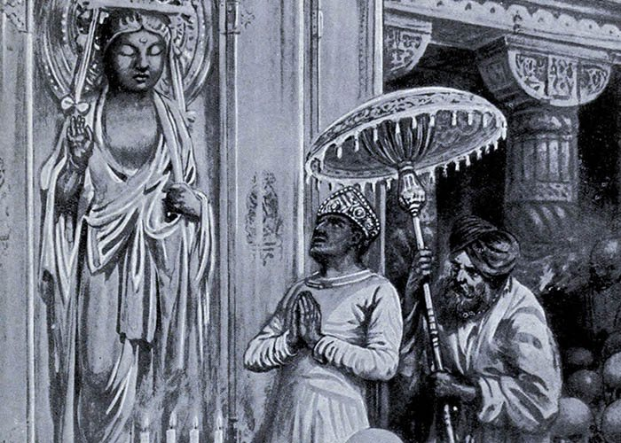 El rey Kanishka inaugura el budismo Mahāyāna.