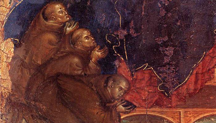 Imagen de unos franciscanos
