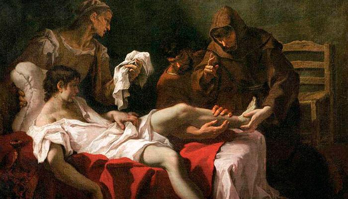 San Antonio de Padua curando a un joven