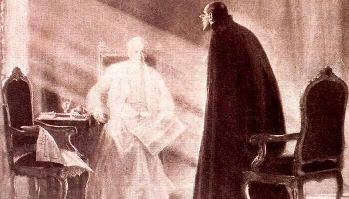 Ilustración de un papa