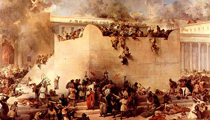 El sitio de Jerusalén durante la primera guerra judeo-romana.