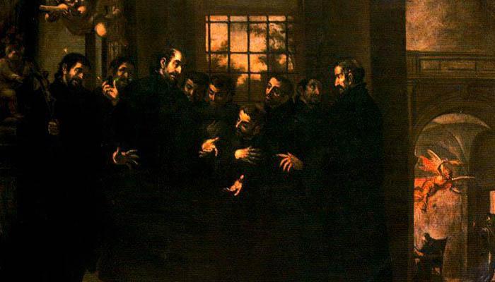 San Ignacio proponiendo la constitución de la Compañia de Jesús