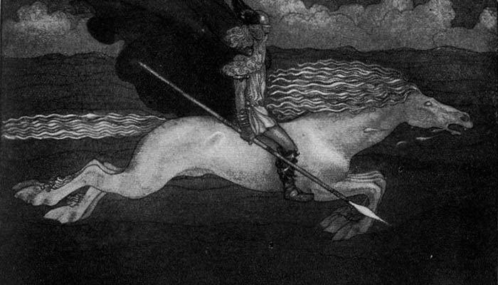 Odín y su caballo