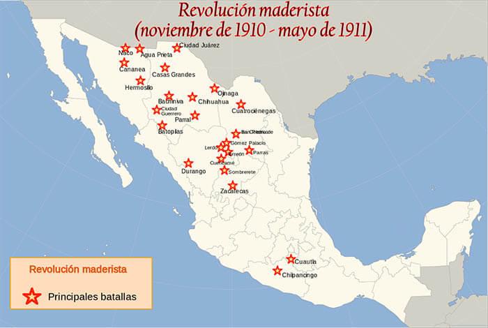 Principales batallas de la Revolución maderista