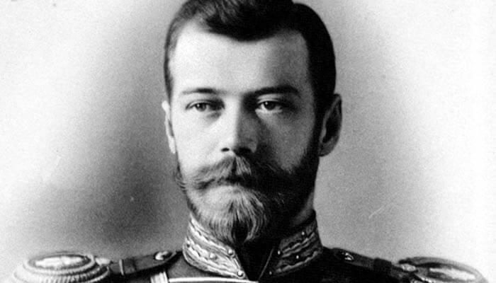 El zar Nicolás II de Rusia.