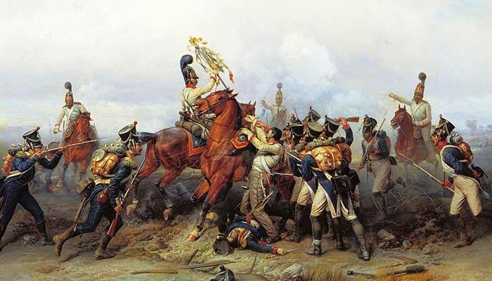 Hazaña del regimiento de caballería en la batalla de Austerlitz en 1805