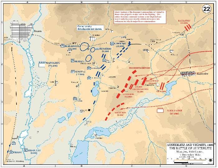 Mapa de la batalla de Austerlitz