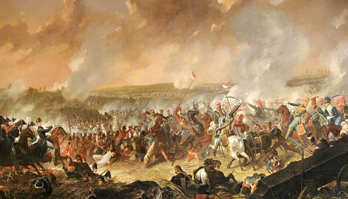 La batalla de Waterloo, 18 de junio de 1815