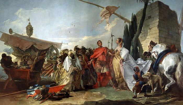 Encuentro de César y Cleopatra