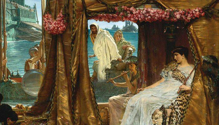 Encuentro de Cleopatra y Marco Antonio