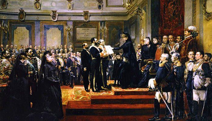 Jura de la Constitución por María Cristina