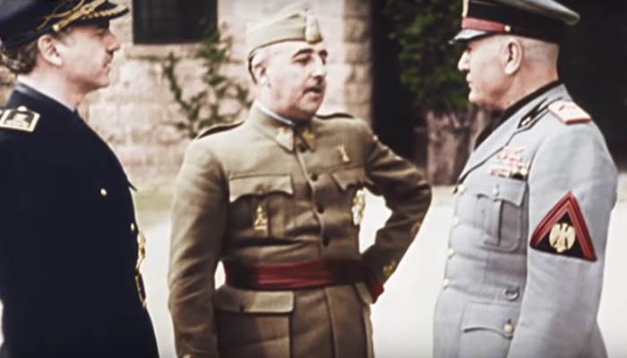 Francisco Franco y Benito Mussolini