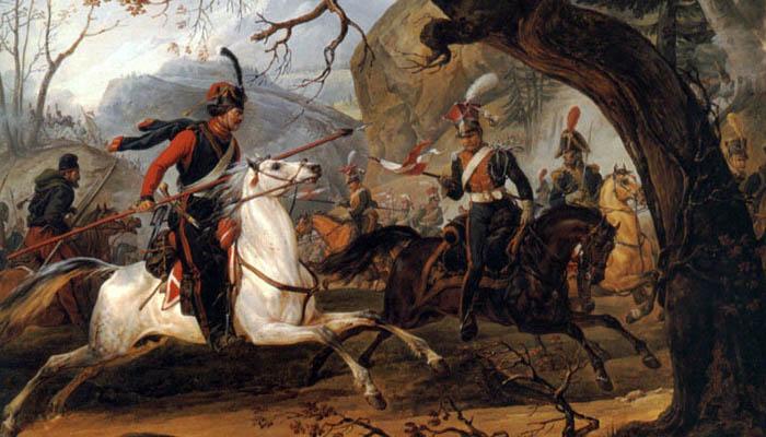 Batalla napoleónica en los Alpes