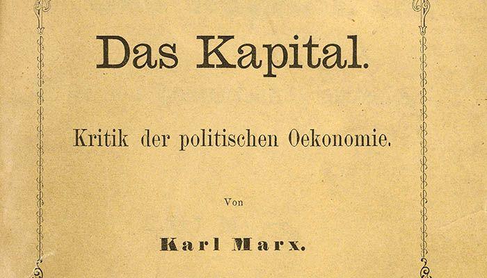 Cubierta de El capital, de Karl Marx