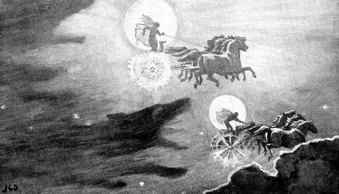 El dios Sol y la diosa Luna