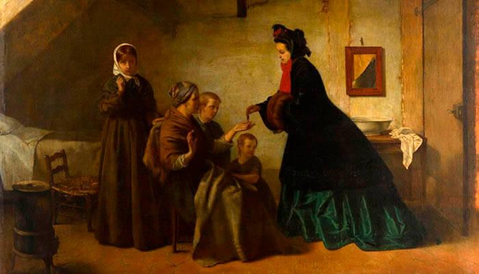 La caridad, cuadro de Léon-Lucien Goupil