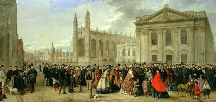 Mañana de graduación en Cambridge en 1863