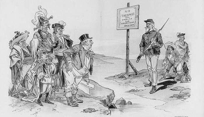 Caricatura sobre la doctrina Monroe