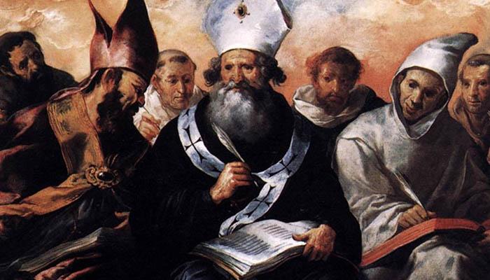 San Basilio dictando su doctrina