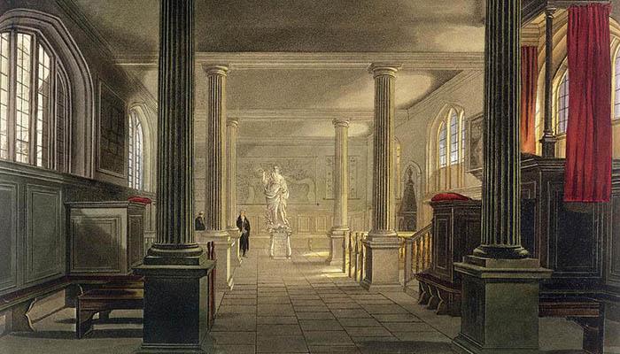 Interior de la escuela de Derecho, Cambridge