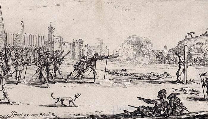 El disparo del arcabuz