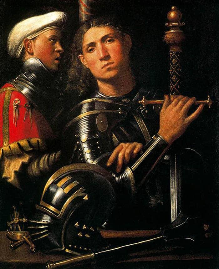 Retrato de un caballero en armadura