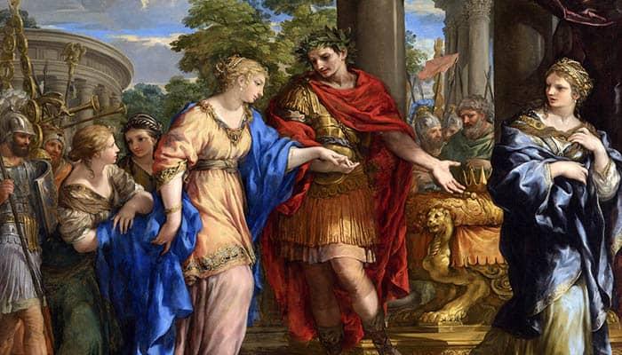 César dando a Cleopatra el trono de Egipto