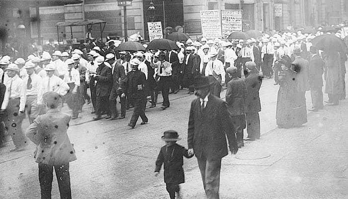 Desfile sindical
