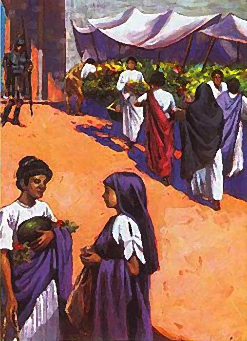 Mercado de la antigüedad