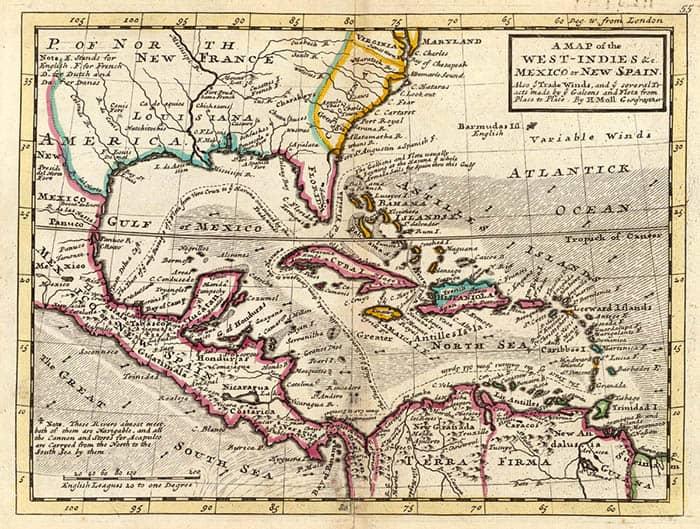 Mapa de las Indias Occidentales