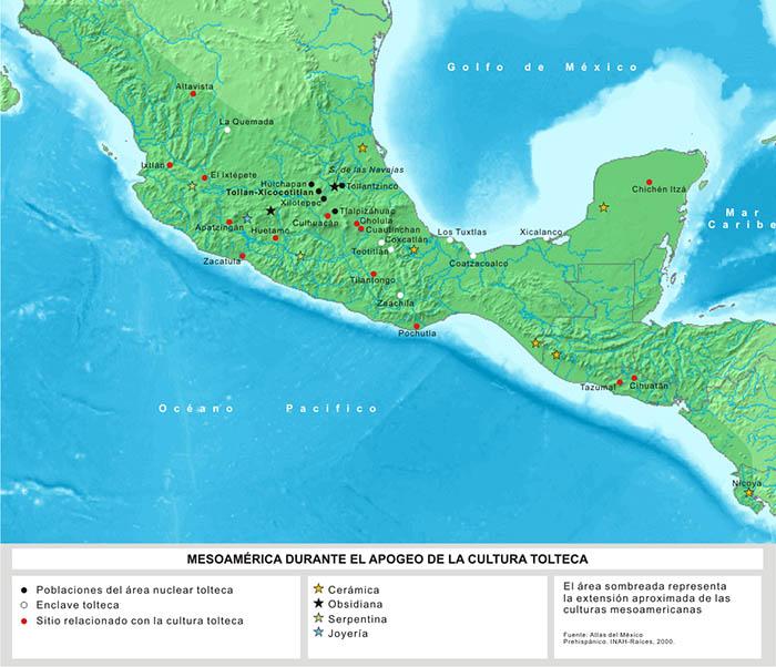 Mapa de la cultura tolteca
