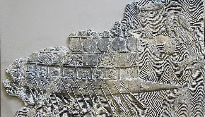 Barco de guerra fenicio