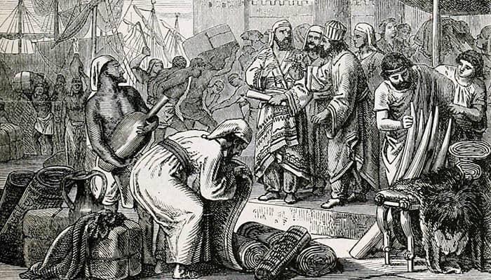 Fenicios comerciantes