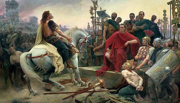 Vercingétorix arroja sus armas a los pies de Julio César